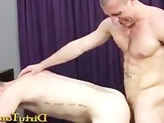 Tattooed Muscle vidz Stud Lets  super Young Ginger Have It Hard