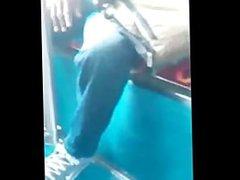 Blue Jean vidz Bulge on  super Bus