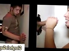Cumshot through vidz gloryhole for  super straight guy