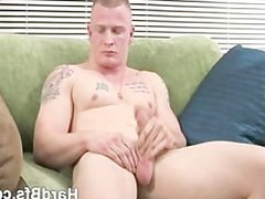 Nasty man vidz jerking his  super large cock
