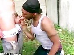 Black thug vidz sucks white  super meat