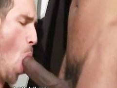 Black gay vidz stud on  super white cock with his mouth