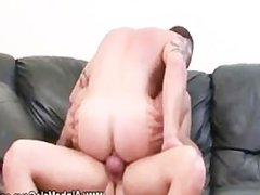 Gay muscle vidz bouncing on  super hard cock