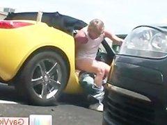Blond dude vidz gets ass  super fucked in car part3