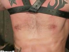Tattooed hunk vidz blindfolded and  super gets part2
