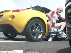 Blonde buddy vidz getting butt  super banged in vehicle part4