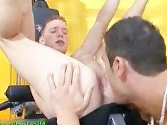 Sexy jock vidz gets his  super pink anus licked part4