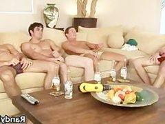 Super hot vidz studs in  super gay foursome part6