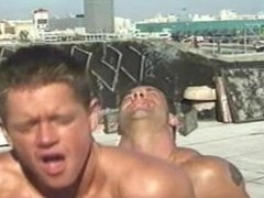 Older and vidz Younger Rooftop  super Sex