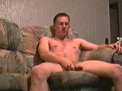 amateur soldier vidz stroking his  super meat