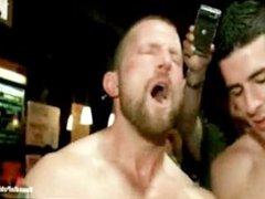 Gangbanged, humiliated vidz in bar  super gay boy
