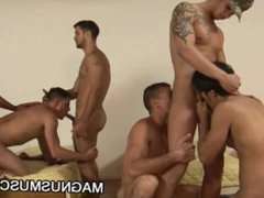 Muscle soldiers vidz having group  super sex