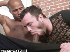 Horny gay vidz seduces a  super black cock