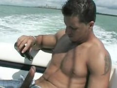 Straight Hunk vidz Shows Off  super and Jerks Huge Dick Out on Boat