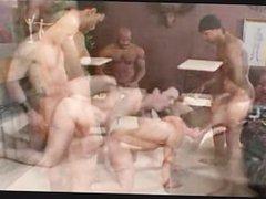 White guy vidz gets gangbanged  super by several black guys