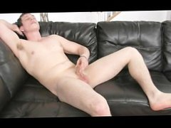 White Boy vidz on Black  super Couch