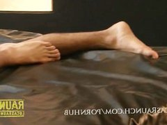 Aggressive top vidz dominates horny  super btm & fucks him with his foot. Huge