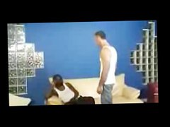 black dude vidz spanked by  super white