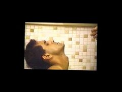 "Italian Sucking vidz a HUGE  super 11"" Cock in the Shower"
