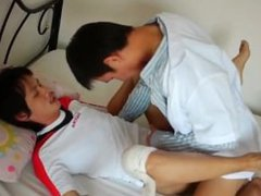 Dr twink vidz fuck his  super asian patient on doggystyle