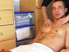 Real straight vidz guy get  super massaged and get wanked!