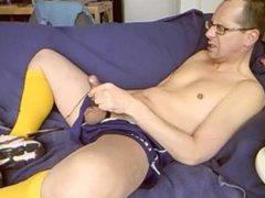Sport Legea vidz cum, blue  super short and yellow sox.