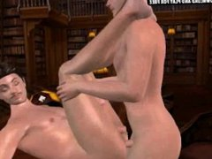 Horny 3D vidz cartoon stud  super getting his tight ass fucked