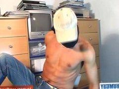 Bachir real vidz arab guy  super get wanked his huge cock by a gay guy !