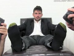 Two slaves vidz worship Fiero's  super sweaty socks and feet pt. 1