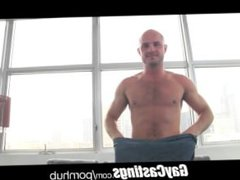GayCastings thick vidz dick fucks  super leather SF otter on casting couch
