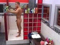 Hot B vidz Brother Stud  super shower and jerk