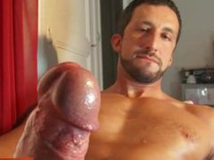 Andrea, a vidz very sexy  super italian hunk get wanked his huge cock in spite of him