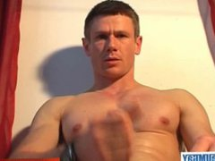 A gym vidz guy get  super wanked in spite of him by us !
