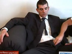 A suite vidz trousers straight  super guys get wanked his very huge cock bu a guy !