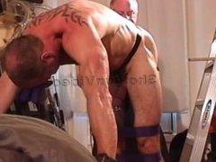 Jim Roberts vidz Bondage, Ball  super Bashing and Big Black Butt Plug