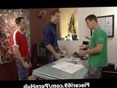 Orgia gay vidz a tre  super maschi in calore pompini - Gay orgy three males blowjob