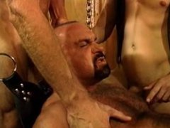 Five man vidz sensual CBT,  super BDSM orgy featuring bears and otters with cum.
