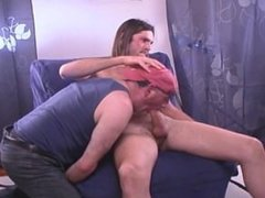 str8 long vidz hair dude  super with big thick cock gets BJ from me.