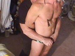 CBT bashing vidz muscular stud's  super balls in his speedo.