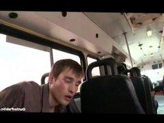 Straight boys vidz cum on  super bus