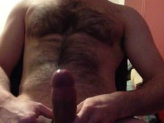 jacking off vidz my cock  super and dripping cum onto my balls