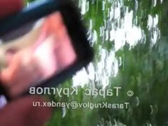 Russian soldier vidz get's boner  super watching phone porn.