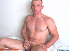 Full video: vidz Keri a  super sexy athletic guy get wanked his huge cock by us !