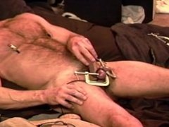 CBT built vidz bear punishes  super his own balls.