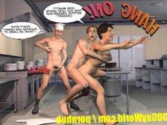 PLEASING GAY vidz CUSTOMER 3D  super Cartoon Comic Anime Hentai Story STRAIGHT BOY SEX