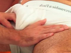 Full video: vidz a mature  super athletic guy serviced by our assistant in spite of him