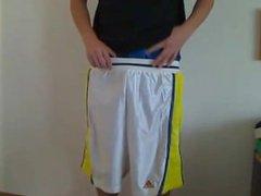 Sagging Adidas vidz Basketballshorts and  super Satin Boxer