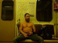 Public Jack-Off vidz in the  super Subway