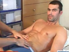 Nicolas, an vidz handsome straight  super guy gets wanked by a gay guy in spite of him!