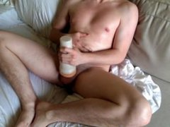 Masturbating with vidz oils, fleshlight,  super and p spot massager